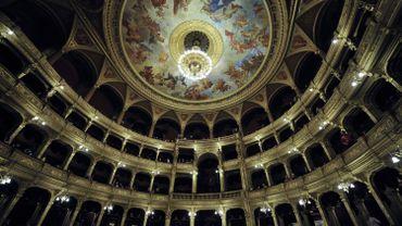 L'Opéra national de Budapest vu de l'intérieur.