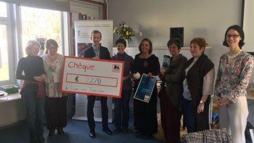 Photo prise lors de la remise du prix de la Fondation Roi Baudouin.