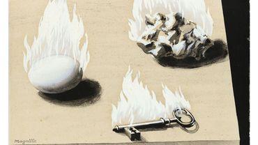 """René Magritte, """"L'Échelle du feu"""" (1934)"""