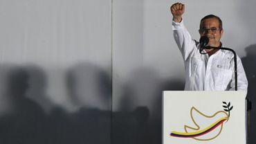 Le chef suprême de la guérilla colombienne des Farc, Timoleon Jiménez, le 26 septembre 2016 à Carthagène en Colombie