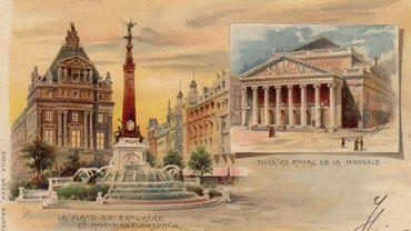 Place De Brouckère et Théâtre Royal de la Monnaie