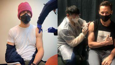Ryan Reynolds et Hugh Grant ont respectivement partagé leur vaccination avec leurs abonnés sur Instagram le 31 mars et le 8 avril.