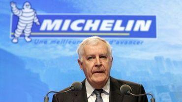 Le patron du groupe Michelin Michel Rollier le 12 février 2010 à Paris