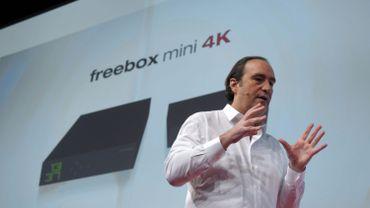 Xavier Niel, présentant la nouvelle Freebox mini 4 K à Paris...C'était en 2015.