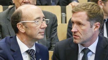 Rudy Demotte, ministre-président de la FWB, et Paul Magnette, ministre-président wallon.