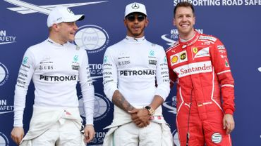 Valtteri Bottas, Lewis Hamilton et Sebastian Vettel
