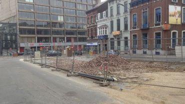 Les travaux de remblayage du parcoville situé boulevard J. Bertrand se poursuivent