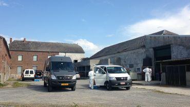 Les installations démantelées à Chimay.