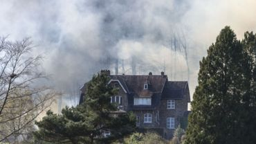 incendie Wépion chemin du Beau Vallon