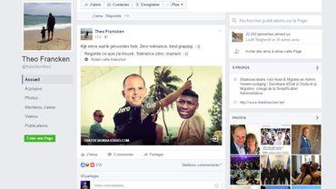 Le post sur la page Facebook de Theo Francken.