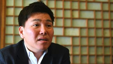 Joo Seung-hyeon, ancien soldat d'élite de l'armée nord-coréenne qui a fait défection, lors d'une interview avec l'AFP, le 26 mars 2018 dans un café à Séoul