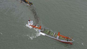 Le Flinterstar échoué, photographié le 7 octobre dernier