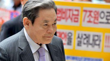 Lee Kun-hee avant une audience devant le tribunal à Séoul, le 1er juillet 2008