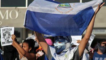 Opposant au gouvernement à Managua, le 24 mars