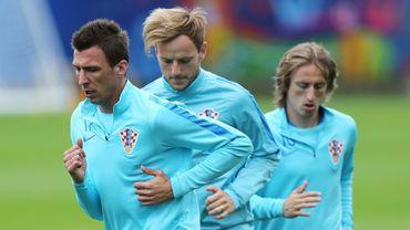 Luka Modric, Ivan Rakitic et Mario Mandzukic