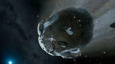 Illustration obtenue auprès des Université de Warwick et de Cambridge montrant un astéroide le 10 octobre 2013