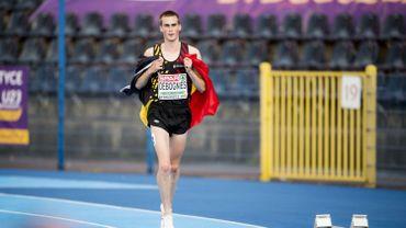 Simon Debognies décroche l'argent sur 5.000m à l'euro espoirs d'athlétisme