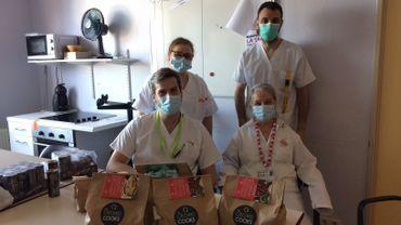 Un repas livré au personnel hospitalier pour 10euros