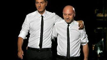 Les stylistes italiens Domenico Dolce et Stefano Gabbana, le 23 juin 2007 à Milan