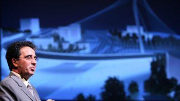 Santiago Calatrava présentant son projet de nouvelle gare pour Mons.