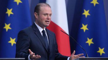 Joseph Muscat, le premier ministre maltais, lors d'une conférence de presse pour marquer le début de la présidence tournante maltaise à La Valette ce 11 janvier