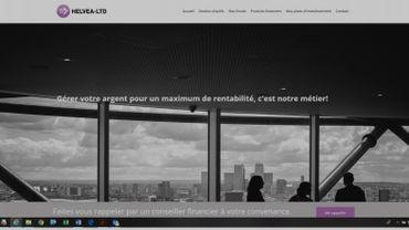 Capture d'écran d'un site frauduleux