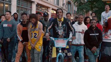 """A$AP Rocky dans son nouveau clip """"Tony Tone""""."""