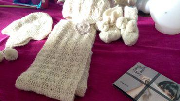Une partie de la production en laine d'alpaga de Carole