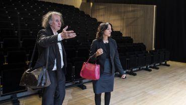 Pierre Hebbelinck en compagnie de Fadila Laanan