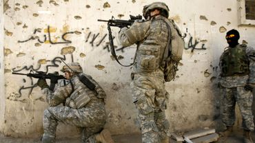 Snipers américains dans les rues de Bagdad en 2007. Image d'illustration