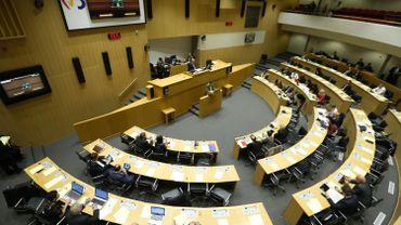 L'hémicycle du parlement de la Fédération WB