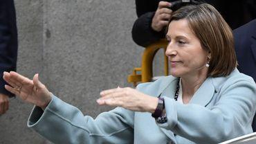 Catalogne: la présidente du parlement a versé la caution permettant sa sortie de prison
