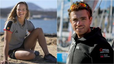 Emma Plasschaert et Jonas Gerckens