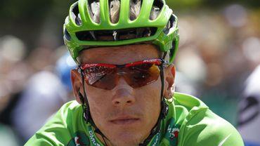 Philippe Gilbert en vert sur les routes du Tour