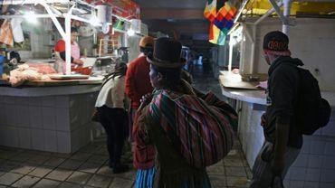 Le marché Rodriguez de La Paz, quasiment vide, le 16 novembre 2019