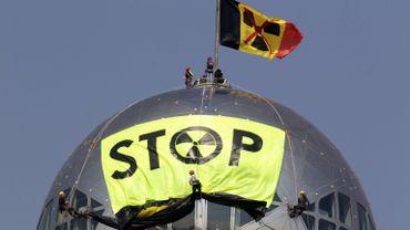 Une précédente action contre le nucléaire menée par Greenpeace