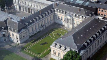 Vue aérienne du Palais d'Egmont en 2008