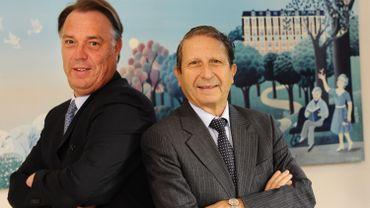 Le Managing Director d'Orpea Belgium, Marc Verbruggen à gauche et le président du groupe Orpea, le Français Jean-Claude Marian.