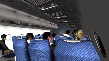 Simulation d'une situation en cabine lors d'un vol
