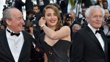 Adèle Haenel et les frères Dardene à Cannes