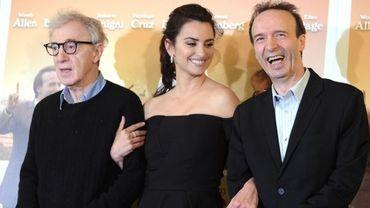 Woody Allen, et les deux acteurs de To Rome with Love, Penelope Cruz et Roberto Benigni