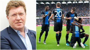 Thierry Luthers et les joueurs du Club de Bruges