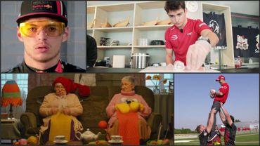 Vettel et Leclerc jouent au rugby, Hülk et Ricciardo jouent les mamys dans le Zapping F1