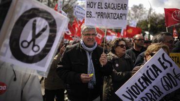 Manifestation de protestation contre le taux élevé de chômage en Espagne