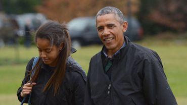 Malia et Barack Obama