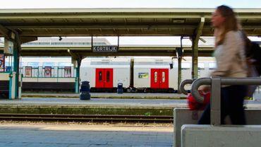 Importants travaux à la gare de Courtrai au mois d'avril
