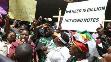 Manifestation anti-Mugabe, le 3 août 2016 à Harare