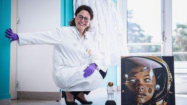 Sarah Baatout est la responsable du laboratoire de radiobiologie du SCK-CEN