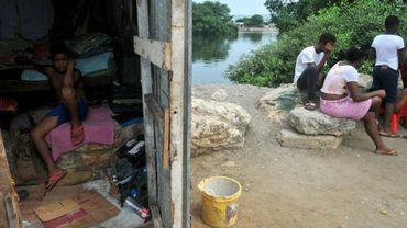 Dans un bidonville du quartier de Nigeria à Guayaquil, en Equateur, le 11 avril 2020