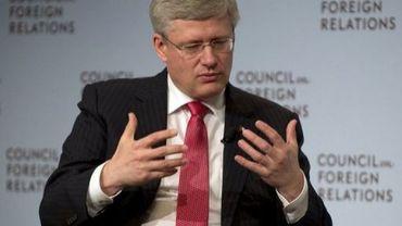 Le Premier ministre canadien Stephen Harper, le 16 mai 2013 à New York